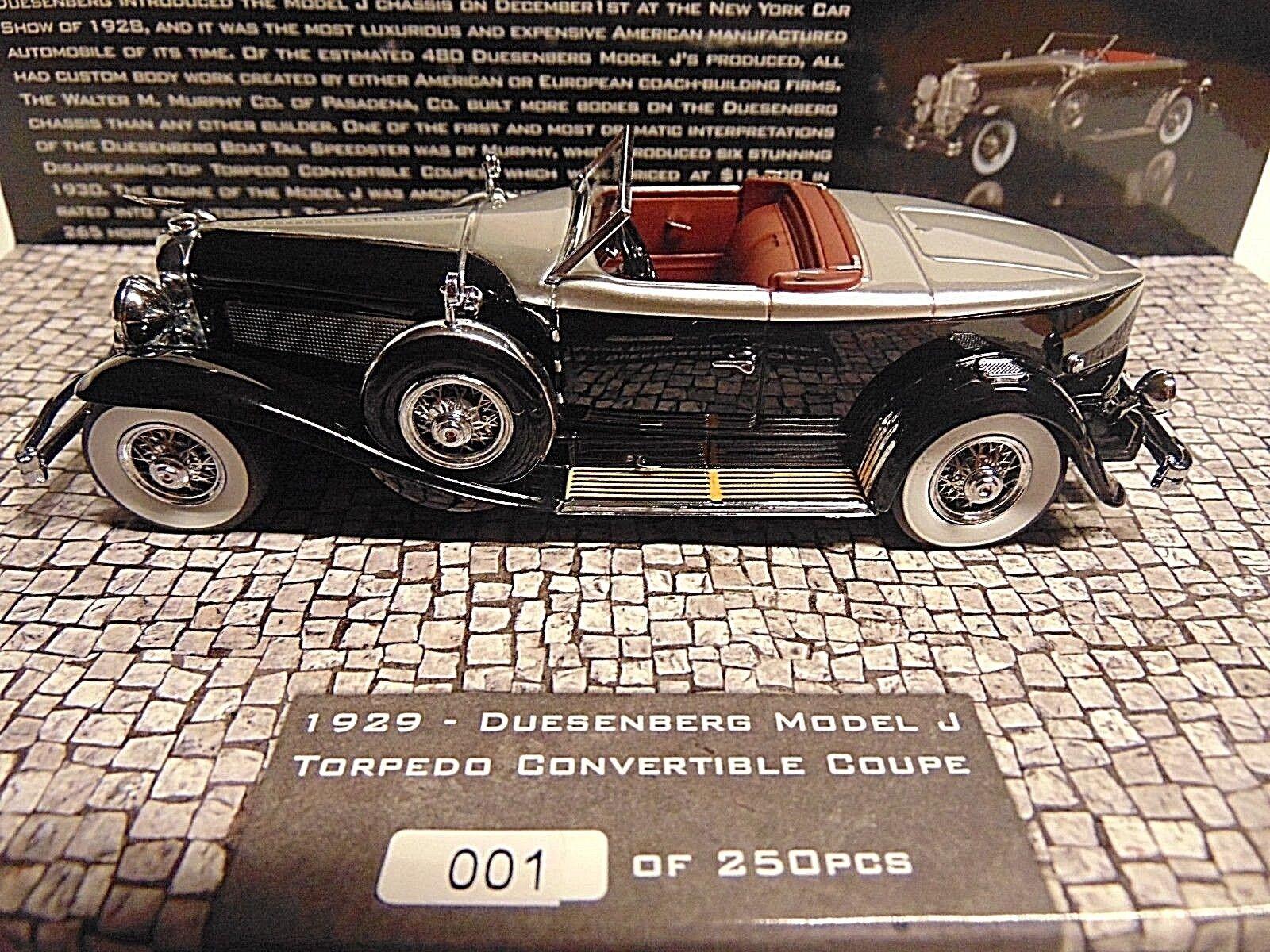 Duesenberg Model J Torpedo Convertible Coupe 1929  1  43 Minichamps 437150431  livraison gratuite