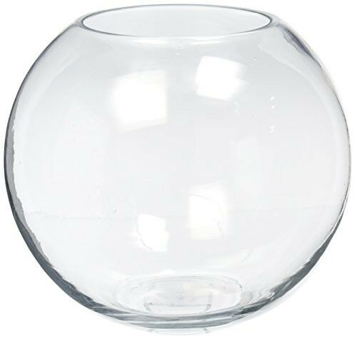 Clear Glass Fish Bowl Vase Centrepiece Bubble Ball Home Office Wedding Snowman