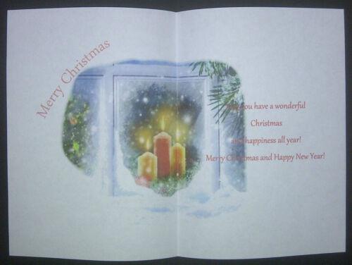 Bougies de Noël V1 Carte insère Pack de 10