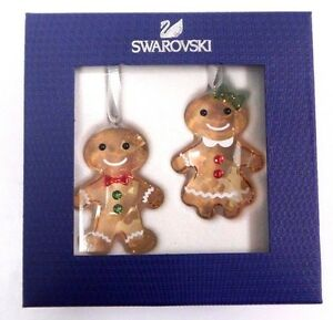 bbb2bb95f Image is loading GINGERBREAD-COUPLE-ORNAMENT-SET-2017-CHRISTMAS-SWAROVSKI -RETIRED-