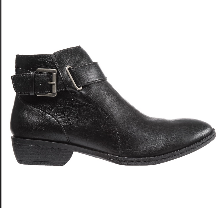 Nuevas botas al Tobillo nacido B.O.C McLeod Negro para mujer 6 Negro McLeod Botines C98409 Zip Lateral 866f01