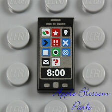 NEW Lego Minifig Black SMART CELL PHONE 1x2 PRINTED TILE Girl Friends app iPhone