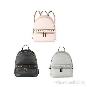 Michael Kors Kenly Medium Studded Pebble Leather Backpack Book Bag
