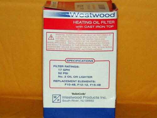 Oil Burner Filter Canister F-20 Unifilter 77 Westwood F10-F25 General 1A