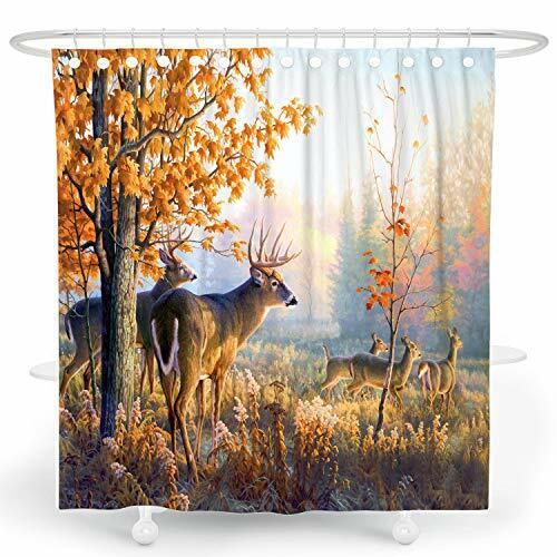 Shower Curtain Deer Rustic Wildlife, Wildlife Bathroom Decor