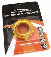 Alligator DISC Brake Rotor Center-Lock Adapter for 15/20 mm thru-axle hub, Gold