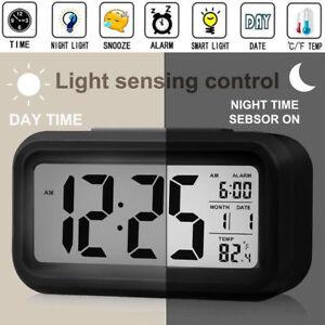 Batterie-Reveil-Numerique-Affichage-LCD-Retroeclairage-Calendrier-Snooze-Neuf