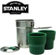 STANLEY 0.71L CAMP COOK SET CUPS FLASK STAINLESS STEEL THERMOS VACUUM BPA FREE
