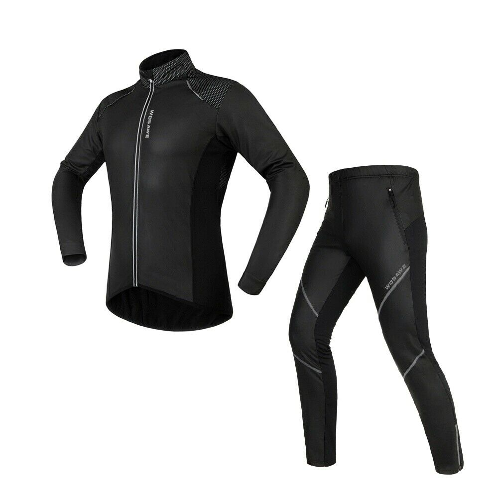 Men's Ciclismo Bicicletta Set Cappotto Abgreeliamento Giacca e e e Pantaloni Impermeabile Antivento f3f