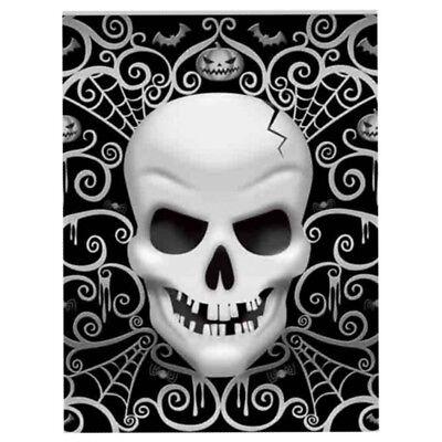 8 Gothic Fright Night Skull Terror Halloween Party Paper Napkin Serviette Rings
