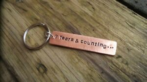 copper keychain 7 years counting 7th wedding anniversary gifts for