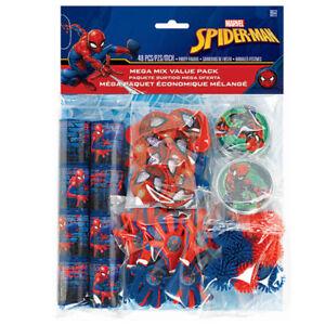 Image Is Loading SPIDER MAN Webbed Wonder FAVOR PACK 48pc Birthday