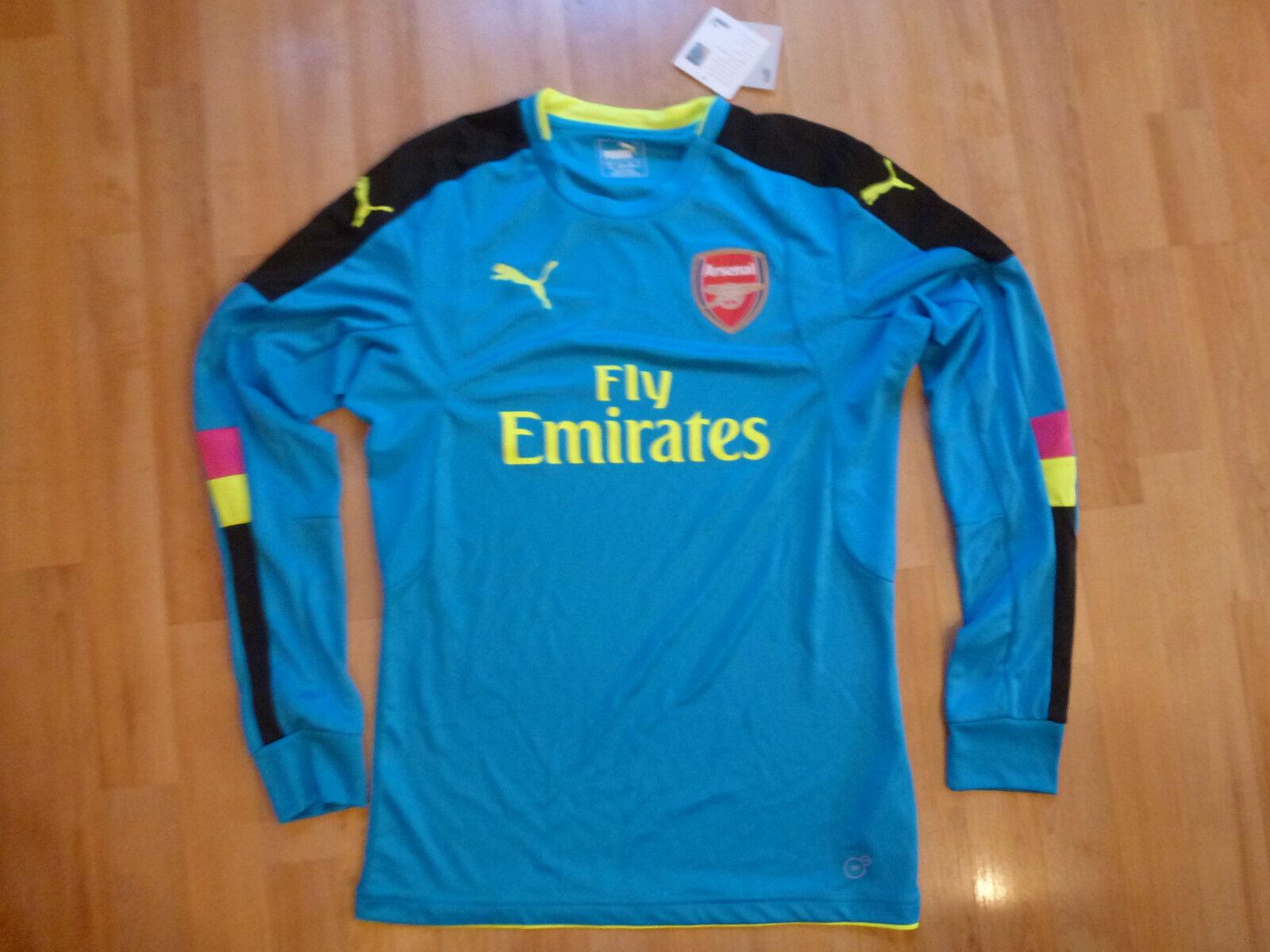 Torwart Trikot blau FC Arsenal London ORIGINAL neu ungetragen Langarm NEU Gr.S