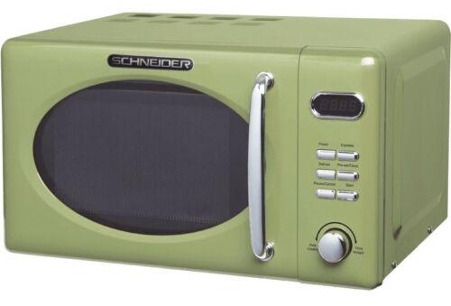 Micro-Ondes Retro Schneider Mw720 Sg Vert 700watt 20l Nostalgie Grenouille Olive
