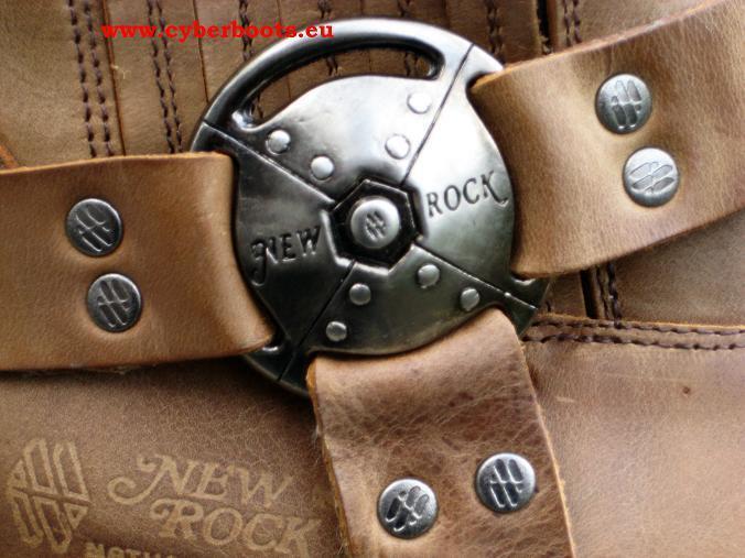 New Rock Gothic Gothic Gothic Biker Stiefel Fisto braun Größen 41  bis 46 2554cb