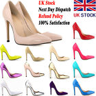 NEW WOMENS LADIES HIGH HEELS STILETTO PUMPS COURT SHOES SIZE UK 2 3 4 5 6 7 8 9
