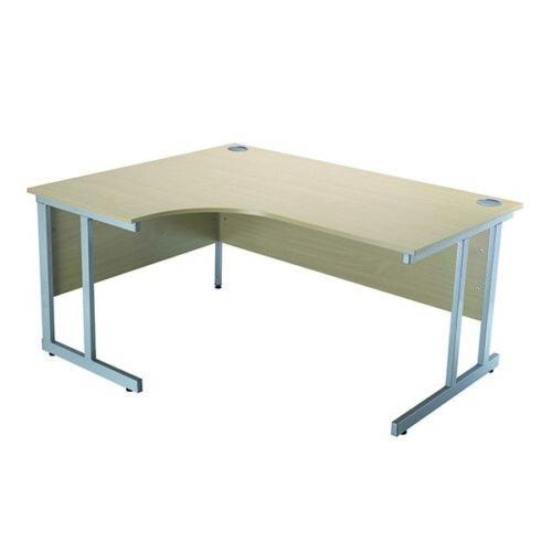 Jemini Intro 1500mm Radial Left Hand Cantilever Desk Warm Maple KF838525
