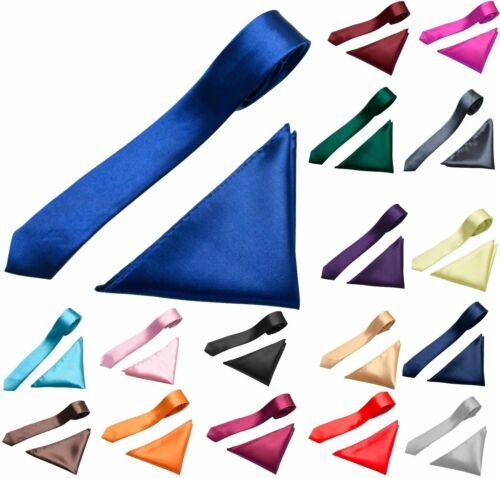 Mens Neck Tie and Pocket Square Hanky Handkerchief Set for Weddings Proms Tie