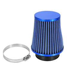 Universal Car High Flow Cold Air Filter Induction Kit Sports Mesh Cone BLUE