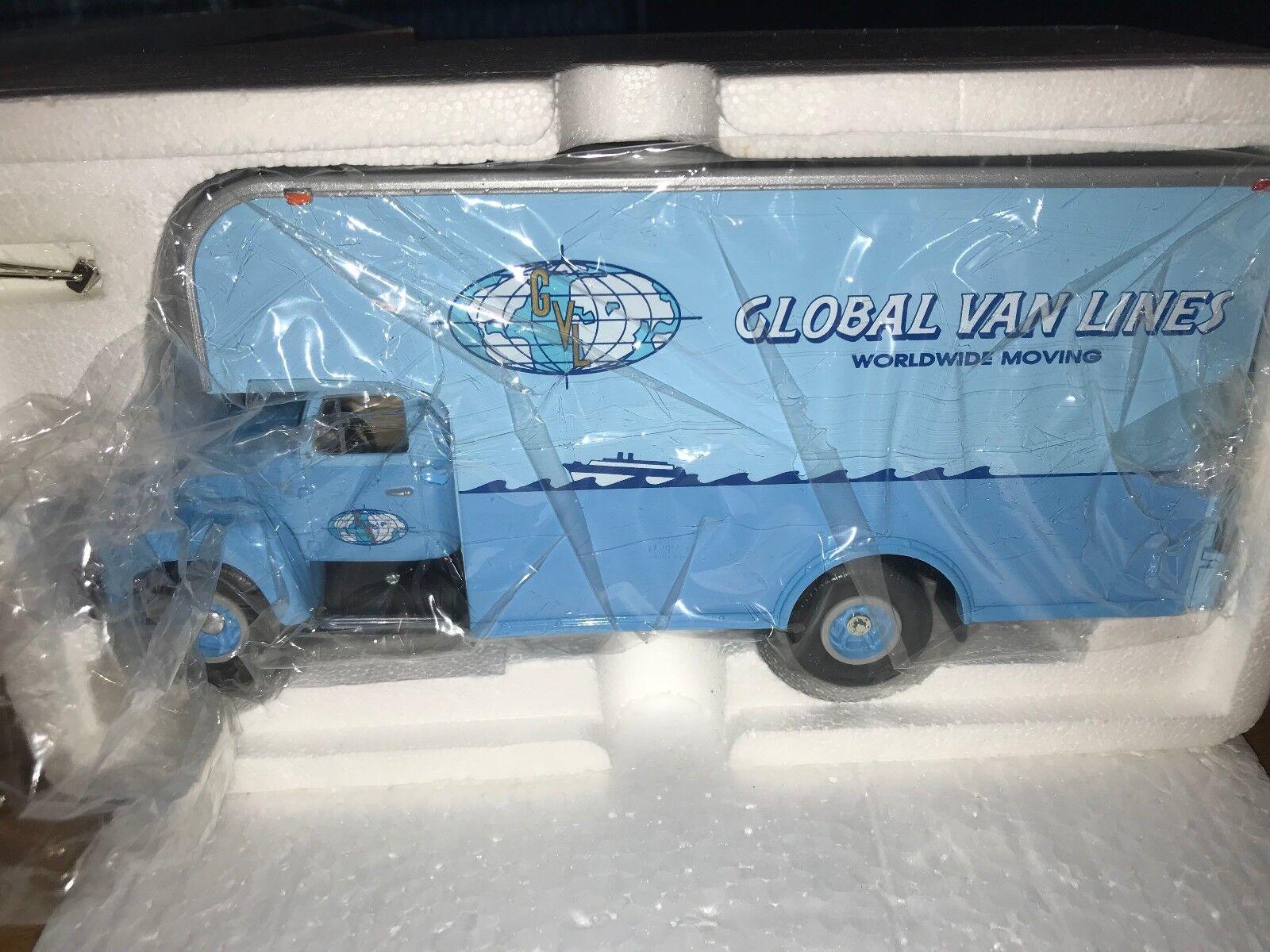 FIRST GEAR 1957 INTERNATIONAL R-200  GLOBAL VAN LINES LINES LINES  MOVING VAN RARE d751d4