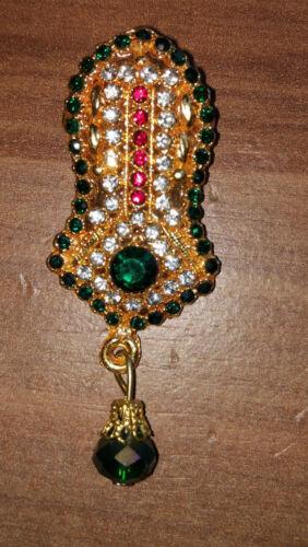 Eid Milad Un Nadi Badge NAQSH E NALAIN E PAK Islamic Gift Brooches Pin Imama
