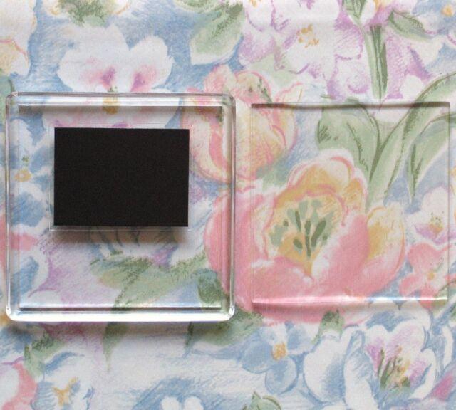 4x Blank Square Acrylic Fridge Magnets 64x64mm Frame & 57x57mm Photo Size 99809