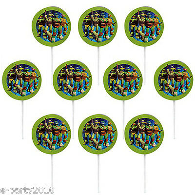 TEENAGE MUTANT NINJA TURTLES CUPCAKE PICKS ~ Birthday Party Supplies Decorations
