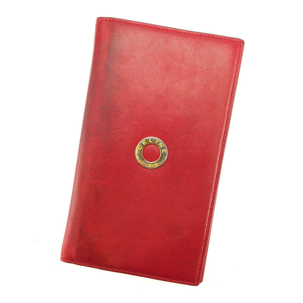 Celine Handbook cover Red Woman unisex Authentic Used T4853