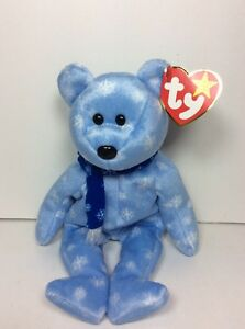9508092f7e2fab RARE ERRORS TY Beanie Babies Baby ICE BLUE SNOWFLAKE 1999 HOLIDAY ...