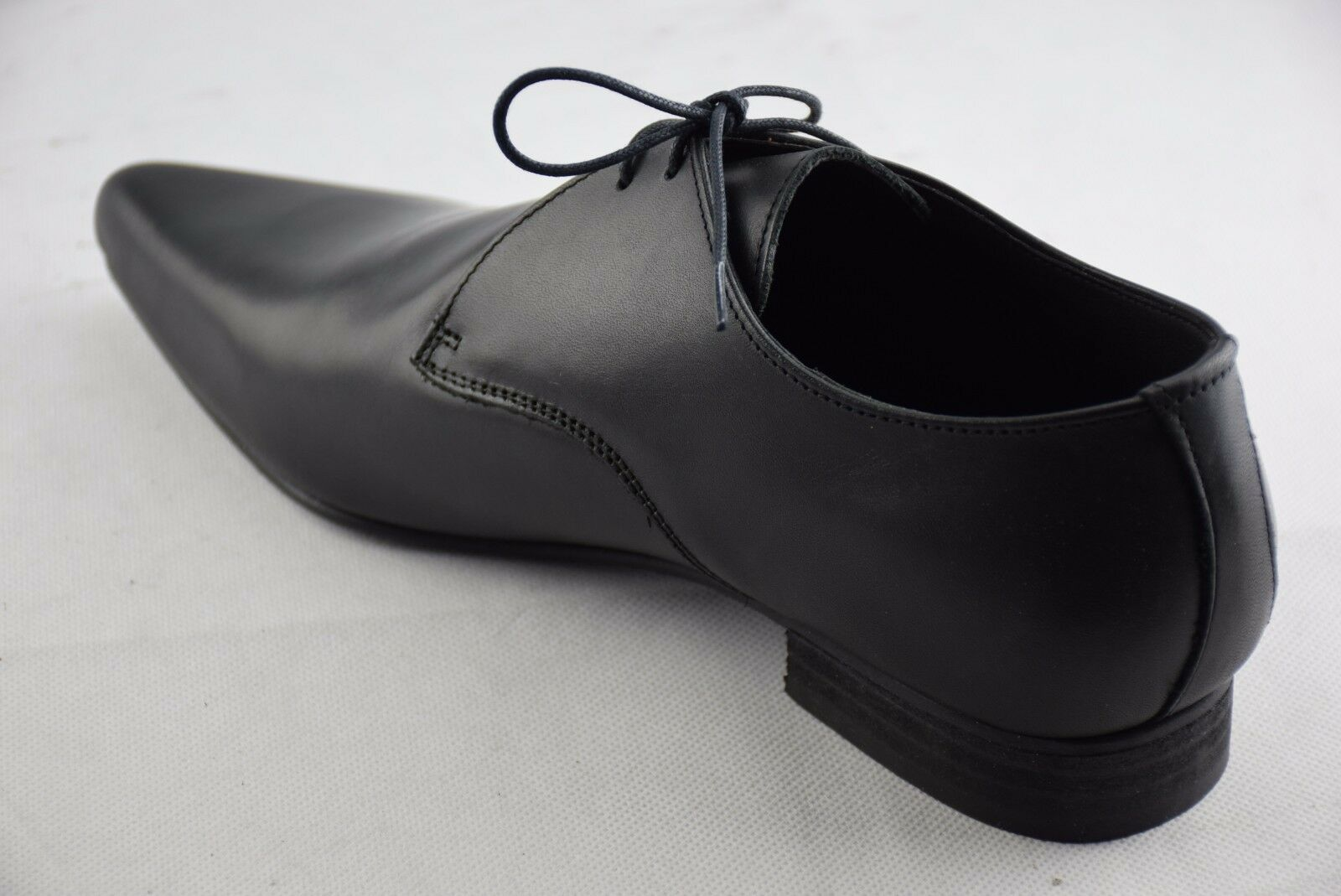 Steel Ground Shoes Black Leather Lace Lace Lace Up Winklepicker Casual Shoes Sb008Z92 7becce