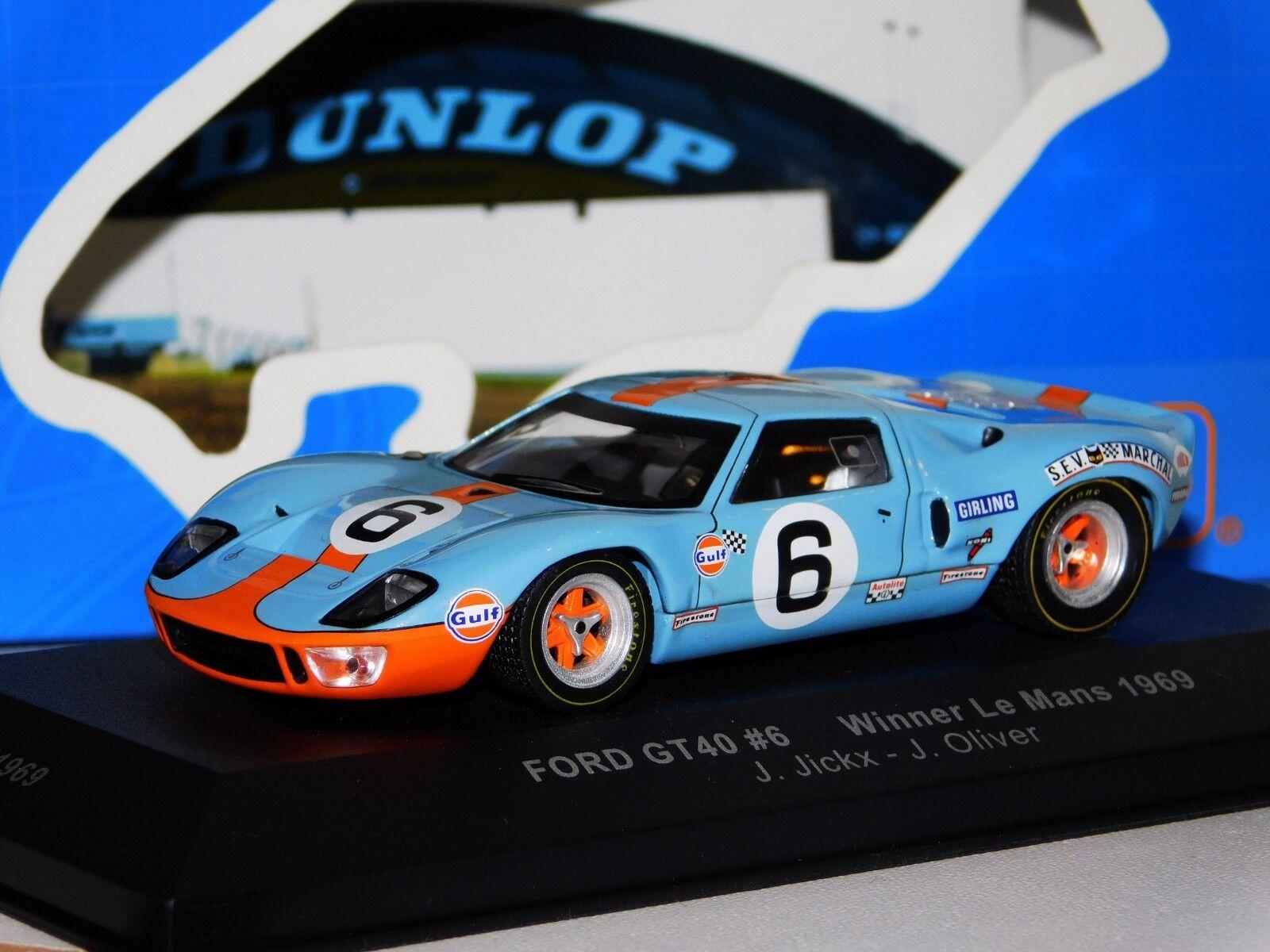FORD GT40 GULF  6 WINNER LE MANS 1969 IXO LM1969 1 43