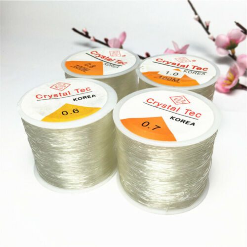 100M Strong Crystal Elastic Cord String Rope Wire DIY Bead Bracelet 0.5-1.0mm