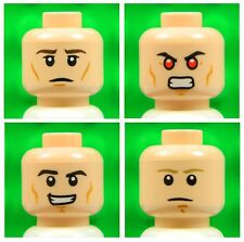 Lego Male Flesh HEADS [x4] for minifigures boy star wars super heroes NEW 4p5