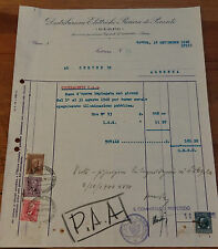 FATTURA D.E.R.P.O. 1940 ALBENGA OSCURAMENTO SPEGNIMENTO ILLUMINAZIONE WWII 3-213