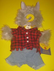 New BUILD-A-BEAR WEREWOLF COSTUME 3 piece Were Wolf Outfit