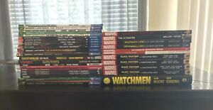 Marvel/DC Graphic Novel Lot (33 Hardcover/TPB Books Included)