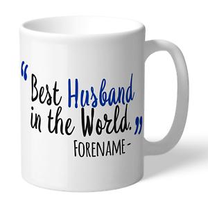 Bien Informé Brighton & Hove Albion F.c - Personalised Ceramic Mug (best Husband) Avoir à La Fois La Qualité De TéNacité Et De Dureté