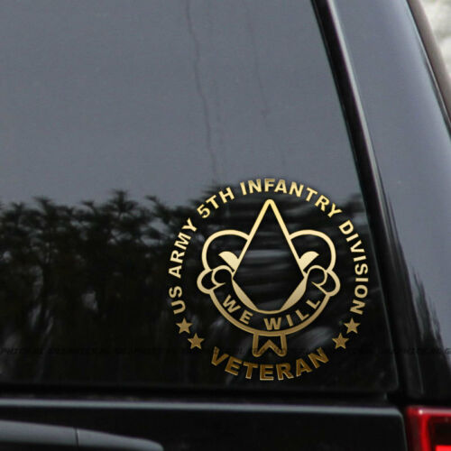 US Army 5th Infantry Division Decal Sticker Veteran Car Truck Window Laptop