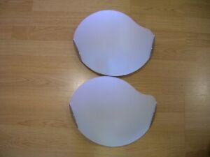 coppia lampade da parete in vetro satinato bianco anni '80