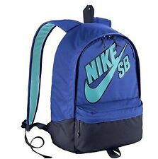 NEW NIKE SB SKATEBOARD PIEDMONT 6.0 EMBARCA MEDIUM SCHOOL BACKPACK BAG BLUE