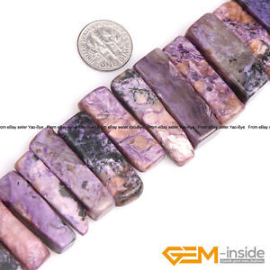 Natural-Freeform-Gemstone-Stick-Point-Flat-Beads-For-Jewelry-Making-Strand-15-034