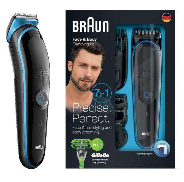 Braun MGK3040 7-in-1 Bart und Korpertrimmer Set Rasierer Haartrimmer