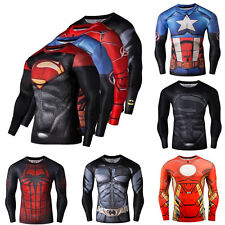 Super Hero  T-shirt Long Sleeve Compression Sport 3D Men Fitness Cycling