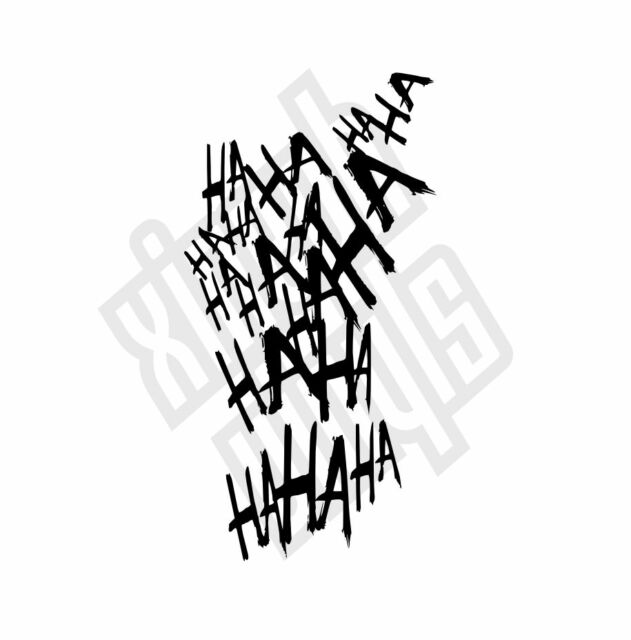 haha joker vinyl sticker decal suicide squad car  window
