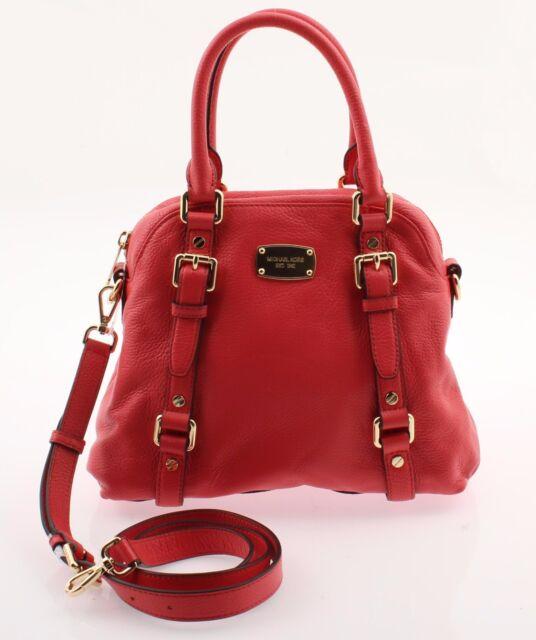Nwt Michael Kors Women S Bedford Medium Satchel Shoulder Handbag In Leather