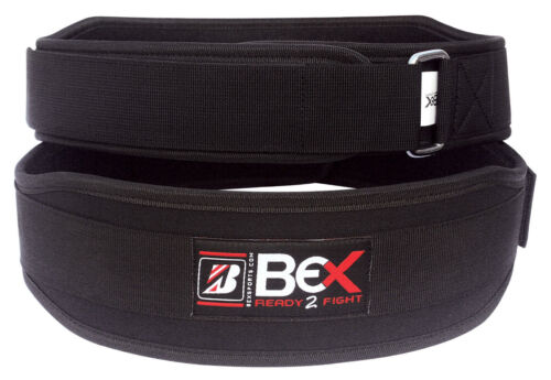 "BEX WEIGHT LIFTING NEOPRENE BELT SUPPORT GYM TRAINING BACK WAIST 4/"""