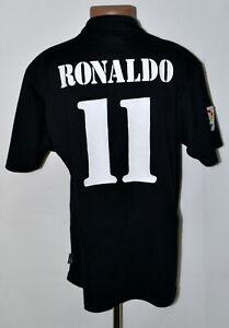 REAL-MADRID-SPAIN-2002-2003-AWAY-FOOTBALL-SHIRT-ADIDAS-RONALDO-11-SIZE-L-ADULT