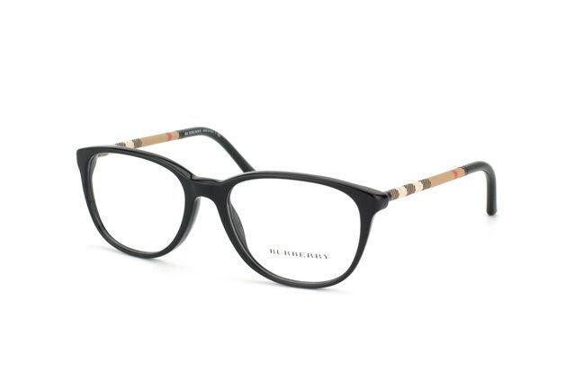 e11aa4c6eb2 RARE Genuine BURBERRY Designer Black Tan Check Frames EyeGlasses BE 2112  3001 52