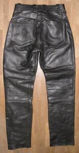 034-Hein-Gericke-TK-034-Damen-Leather-Jeans-Biker-Trousers-IN-Black-Size-36
