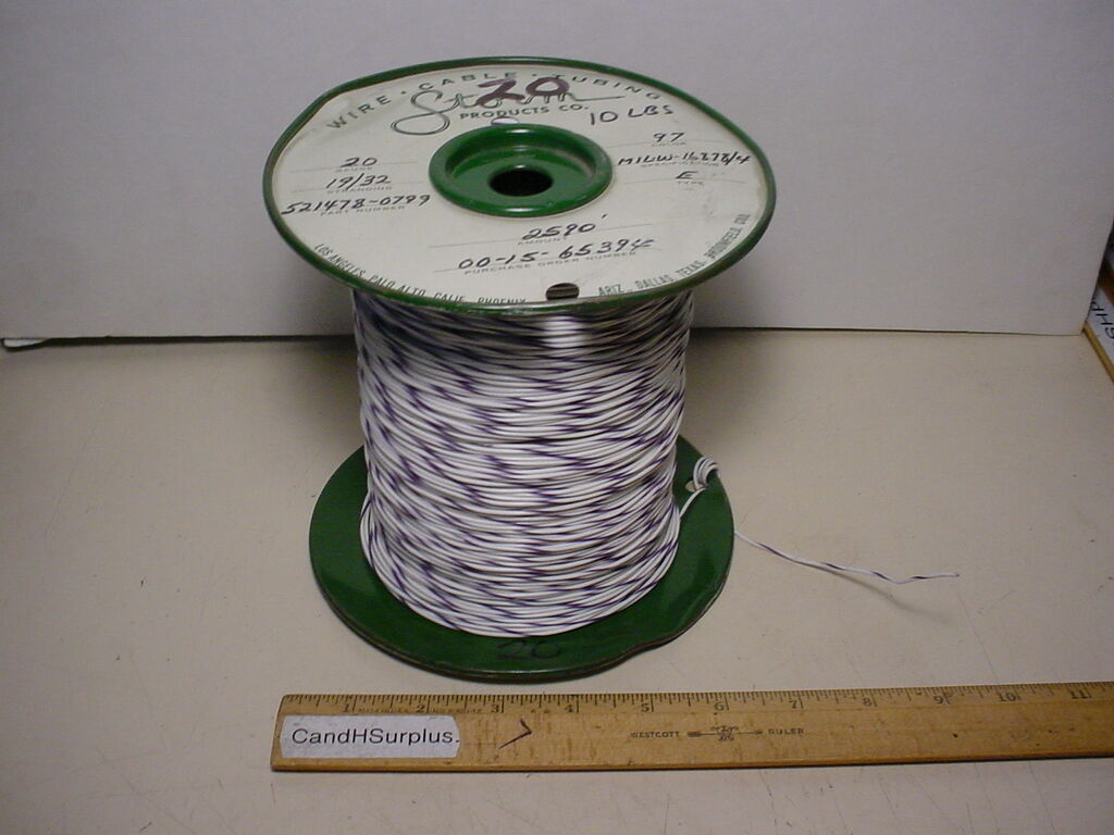 Storm 20 AWG PTFE Hookup Wire Mil-w-16878/4 19 Strand Type E White ...